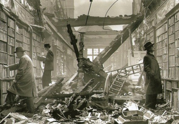 bombed library